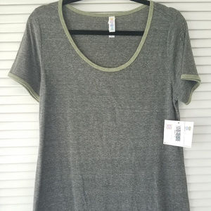 Perfect T-Heather Gray/Moss Green